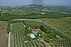 farmhouse with panoramic view near san gimignano